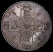 London Coins : A170 : Lot 1454 : Double Florin 1889 ESC 398, Bull 2701 EF and attractively toned with some small edge nicks
