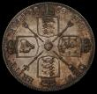 London Coins : A170 : Lot 1456 : Double Florin 1889 Second I in VICTORIA an Inverted 1 ESC 398A, Bull 2702 EF with some contact marks...