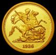 London Coins : A170 : Lot 1461 : Fantasy Sovereign 1936 Obverse: Edward VIII facing left, Reverse: George and the Dragon, struck in 9...