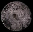 London Coins : A170 : Lot 1464 : Farthing 1685 James II Tin issue, the last digit just visible on the edge, the edge reading only par...