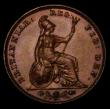 London Coins : A170 : Lot 1476 : Farthing 1839 as Peck 1554, Aboutfarthings Obverse 1, both A's barred in GRATIA, Reverse Ab Thr...