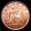 London Coins : A170 : Lot 1487 : Farthing 1861 5 Berries, Freeman 503 dies 3+B, UNC the obverse attractively toned, both sides with t...