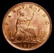 London Coins : A170 : Lot 1490 : Farthing 1862 Thin 8 over Large 8, a choice UNC example, the obverse with a superb 'satiny'...