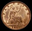 London Coins : A170 : Lot 1494 : Farthing 1868 Bronze Proof Peck 1882, UNC and lustrous,  in an LCGS holder and graded LCGS 82, very ...