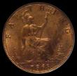 London Coins : A170 : Lot 1496 : Farthing 1868 Freeman 519 dies 3+B UNC with around 70%/50% lustre, in an LCGS holder and graded LCGS...
