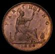 London Coins : A170 : Lot 1502 : Farthing 1880 4 Berries in wreath, Closed 8 in date, Freeman 541 dies 5+D UNC with traces of lustre,...