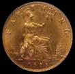 London Coins : A170 : Lot 1506 : Farthing 1888 Freeman 560 dies 7+F Choice UNC with around 75% original lustre, in an LCGS holder and...