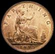 London Coins : A170 : Lot 1514 : Farthing 1895 Bun Head Freeman 570 dies 7+F Lustrous UNC, with some small handling marks and spots, ...