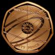 London Coins : A170 : Lot 1518 : Fifty Pence 2017 375th Anniversary of the Birth of Sir Isaac Newton S.H39 Gold Proof FDC uncased in ...