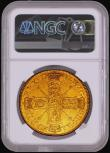 London Coins : A170 : Lot 1520 : Five Guineas 1701 Fine Work S.3456 NGC AU Details Cleaned