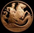 London Coins : A170 : Lot 1523 : Five Pound Crown 2018 Prince George 5th Birthday, Reverse: A modern depiction of St. George slaying ...