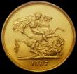 London Coins : A170 : Lot 1524 : Five Pounds 1887 S.3864 in a PCGS holder and graded MS62, a lustrous and sharply struck example