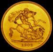 London Coins : A170 : Lot 1528 : Five Pounds 1902 Matt Proof S.3966 UNC/nFDC the obverse with some minor scratches by BRITT : OMN, th...