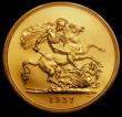 London Coins : A170 : Lot 1533 : Five Pounds 1937 Gold Proof S.4074 in a PCGS holder and graded PR64, an ever-popular issue from the ...