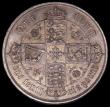 London Coins : A170 : Lot 1538 : Florin 1852 ESC 806, Bull 2820 UNC or near so with attractive golden tone, excellent surfaces with v...