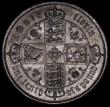 London Coins : A170 : Lot 1539 : Florin 1852 ESC 806, Bull 2820 UNC with a deep gold and blue tone, the obverse with a thin old light...