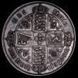 London Coins : A170 : Lot 1542 : Florin 1864 ESC 824, Bull 2854, Davies 739, Die Number 61 VF with grey tone