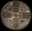 London Coins : A170 : Lot 1544 : Florin 1873 ESC 841, Bull 2879, Davies 757, dies 3B, Top Cross overlaps border beads, Die Number 27 ...