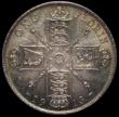 London Coins : A170 : Lot 1582 : Florin 1913 ESC 932, Bull 3758, Davies 1733 dies 2C Choice UNC with a superb blue, green and gold to...