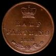 London Coins : A170 : Lot 1624 : Half Farthing 1853 as Peck 1599, variety with inverted 1's for I's in BRITANNIAR, LCGS var...