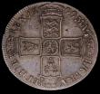 London Coins : A170 : Lot 1699 : Halfcrown 1699 Plain in angles, Third Bust with modified Large Shields ESC 556, Bull 1037, Good Fine...