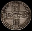 London Coins : A170 : Lot 1704 : Halfcrown 1707 Plain in angles and below bust ESC 574, Bull 1366 Fine, the obverse with old grey ton...