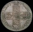 London Coins : A170 : Lot 1706 : Halfcrown 1707 SEPTIMO edge, Plain in angles and below bust ESC 574, Bull 1366 UNC with old grey ton...