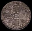 London Coins : A170 : Lot 1709 : Halfcrown 1708 Plumes, SEPTIMO edge ESC 578, Bull 1369 GVF/NEF evenly toned with minor haymarks, gol...