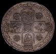 London Coins : A170 : Lot 1725 : Halfcrown 1745 Roses DECIMO NONO edge, ESC 605, Bull 1687 GVF/NEF with touches of gold toning and un...