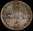 London Coins : A170 : Lot 1727 : Halfcrown 1746 LIMA 6 over 5 ESC 607, Bull 1689 About Fine/Fine