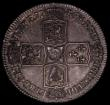 London Coins : A170 : Lot 1729 : Halfcrown 1746 LIMA DECIMO NONO edge, ESC 606, Bull 1688 EF the reverse slightly better with old gre...