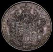 London Coins : A170 : Lot 1763 : Halfcrown 1826 ESC 646, Bull 2375 AU/UNC with a choice old and colourful tone, the reverse particula...