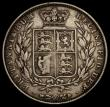 London Coins : A170 : Lot 1786 : Halfcrown 1848 8 over 6 ESC 681A, Bull 2728 Near Fine, Rare in all grades