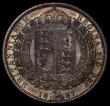 London Coins : A170 : Lot 1806 : Halfcrown 1887 Jubilee Head ESC 719, Bull 2771, Davies 640 dies 1A, Choice UNC beautifully toned ove...