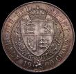 London Coins : A170 : Lot 1826 : Halfcrown 1900 ESC 734, Bull 2786 UNC with very light cabinet friction, the reverse with beautiful e...