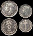 London Coins : A170 : Lot 1905 : Maundy Set 1937 FDC and graded by LCGS 1d 85,2d 88,3d 88 and 4d 85 and in their holders and LCGS var...