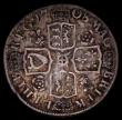 London Coins : A170 : Lot 1963 : Shilling 1708 Roses and Plumes, Third Bust ESC 1149, Bull 1401 Fine the reverse with slight adjustme...