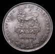 London Coins : A170 : Lot 1992 : Shilling 1825 Lion on Crown Reverse, ESC 1254, Bull 2405, Davies 230 UNC with gunmetal tone over ori...