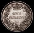 London Coins : A170 : Lot 1999 : Shilling 1844 ESC 1291, Bull 2990 About EF/EF with some contact marks