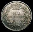 London Coins : A170 : Lot 2000 : Shilling 1844 ESC 1291, Bull 2990 UNC the obverse lustrous with hints of gold tone, the reverse with...