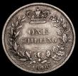 London Coins : A170 : Lot 2003 : Shilling 1848 8 over 6 ESC 1294, Bull 2994 Near Fine/Fine a bold and collectable example for the gra...