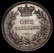 London Coins : A170 : Lot 2004 : Shilling 1851 Double barred A in VICTORIA, as ESC 1298, Bull 2999 EF with an old scratch on the obve...