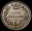 London Coins : A170 : Lot 2013 : Shilling 1878 ESC 1330, Davies dies 6B Die Number 47, the 4 of the Die number is double struck, NEF ...