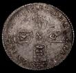 London Coins : A170 : Lot 2054 : Sixpence 1696 First Bust, Early Harp, Large Crowns ESC 1533, Bull 1202 NEF toned with some double st...