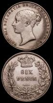 London Coins : A170 : Lot 2122 : Sixpences (2) 1866 ESC 1715, Bull 3213, Die Number 24 Good Fine, 1867 ESC 1717, Bull 3215, Die Numbe...