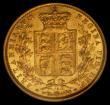 London Coins : A170 : Lot 2182 : Sovereign 1874 Shield Reverse Marsh 58, Die Number 32, Extremely rare and rated R4 by Marsh, GVF/NEF...