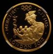 London Coins : A170 : Lot 2428 : Twenty Five Pounds 2010 Gold One Quarter Ounce,  London 2012 Olympics, Faster-Mercury S.4906 Gold Pr...