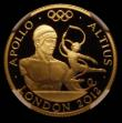 London Coins : A170 : Lot 2430 : Twenty Five Pounds 2011 Gold One Quarter Ounce, London 2012 Olympics, Higher - Apollo S.4907 Gold Pr...