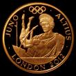 London Coins : A170 : Lot 2431 : Twenty Five Pounds 2011 Gold One Quarter Ounce, London 2012 Olympics, Higher - Juno S.4908 Gold Proo...