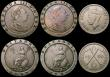 London Coins : A170 : Lot 2477 : Crown 1935 VF, 6d 1940 Fine, Cartwheel Twopence 1797 (2) VG and VF, Southern Rhodesia 6d 1950 VF, US...